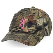 Browning 3D Buckmark Hat (For Women) in Mossy Oak Infinity/Pink - Closeouts