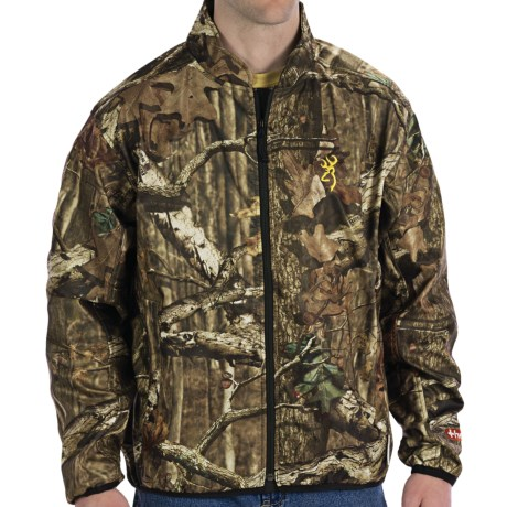 Browning AddHeat Camo Soft Shell Jacket - Windproof, Power Pack (For Big Men) in Mossy Oak Break-Up Infinity