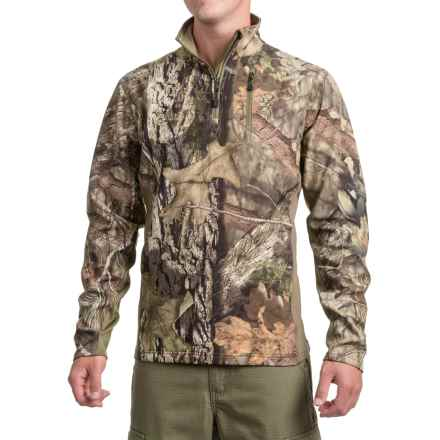 Browning Ajax Fleece Shirt - Zip Neck, Long Sleeve (For Men and Big Men) in Mossy Oak Break Up Country - Closeouts
