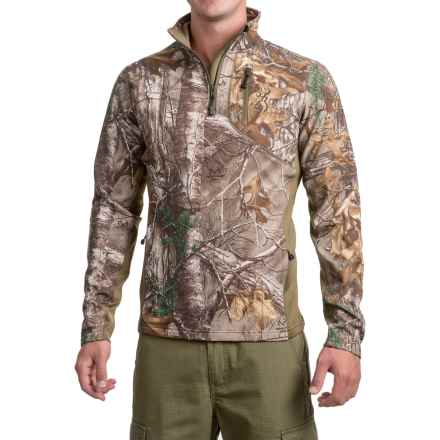 Browning Ajax Fleece Shirt - Zip Neck, Long Sleeve (For Men and Big Men) in Realtree Xtra - Closeouts