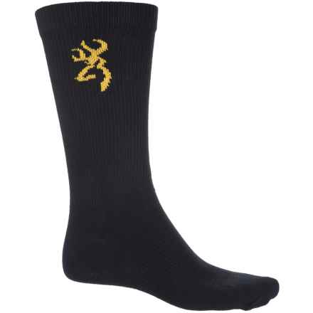 Browning All-Season Cotton Blend Socks - Crew (For Men) in Black - Closeouts