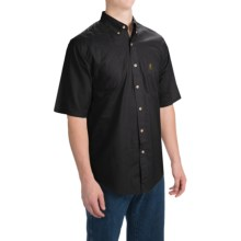 Browning Badger Creek Shooting Shirt - Short Sleeve (For Big Men) in Black - Closeouts
