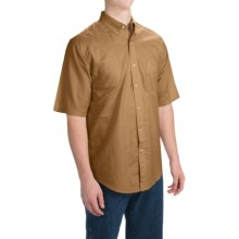 Browning Badger Creek Shooting Shirt - Short Sleeve (For Big Men) in Brown - Closeouts