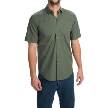 Browning Badger Creek Shooting Shirt - Short Sleeve (For Men) in Pine - Closeouts