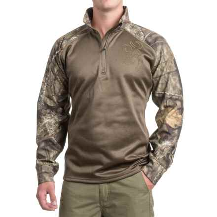 Browning Bellum Shirt - Zip Neck, Long Sleeve (For Men and Big Men) in Mossy Oak Break Up Country - Closeouts