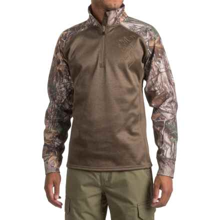 Browning Bellum Shirt - Zip Neck, Long Sleeve (For Men and Big Men) in Realtree Xtra - Closeouts