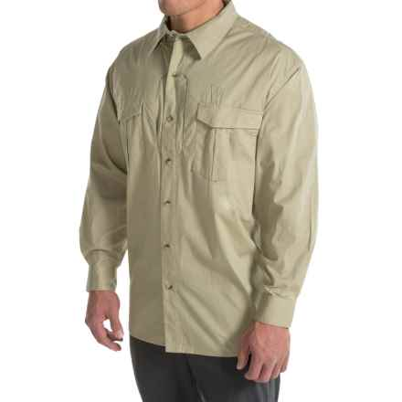 Browning Black Label Tactical Shirt - Long Sleeve (For Big Men) in Sand - Closeouts