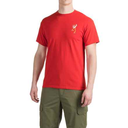 Browning Bubbles Buckmark T-Shirt - Short Sleeve (For Men) in Red - Closeouts