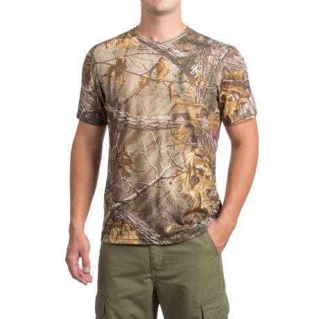 Browning Buck Flag T-Shirt - Short Sleeve (For Men and Big Men) in Realtree Xtra