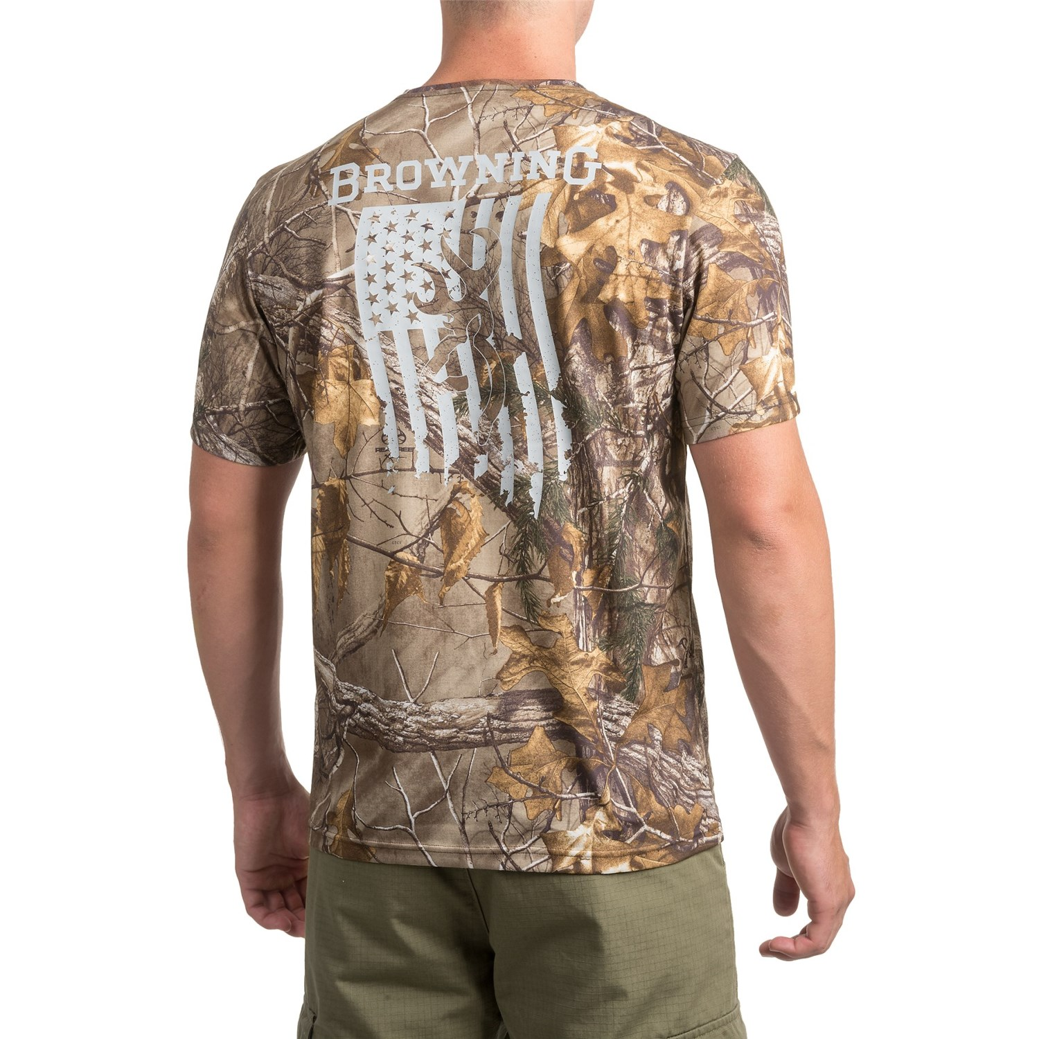Browning buck flag t shirt for men and big men save 73 for Two bucks t shirts