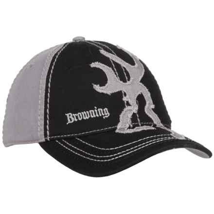 Browning Buckmark 2-Tone Baseball Cap (For Men) in Black/Gray - Closeouts