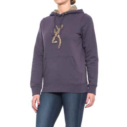 Browning Buckmark Camo Hoodie (For Women) in Nightshade/Realtree Xtra - Closeouts