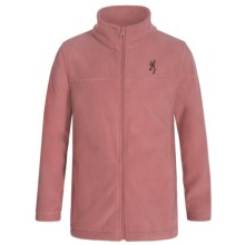 Browning Buckmark Laramie Fleece Jacket (For Little and Big Kids) in Dusty Rose - Closeouts