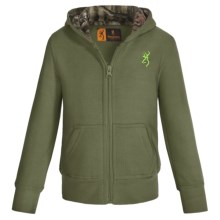 Browning Buckmark Mossy Oak® Sweatshirt - Full Zip (For Toddlers) in Clover - Closeouts