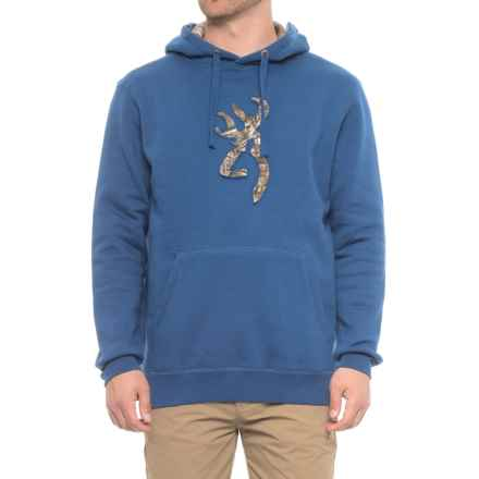 Browning Buckmark Pullover Hooded Sweatshirt (For Men) in Limoges/Realtree Xtra - Closeouts