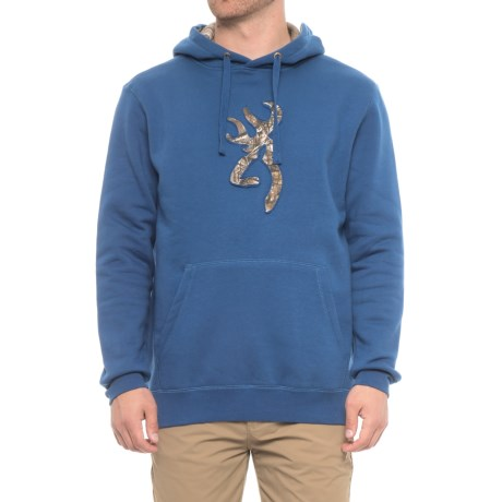 Browning Buckmark Pullover Hooded Sweatshirt (For Men) in Limoges/Realtree Xtra
