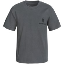 Browning Buckmark T-Shirt - Short Sleeve (For Little and Big Boys) in Charcoal/Black - Closeouts