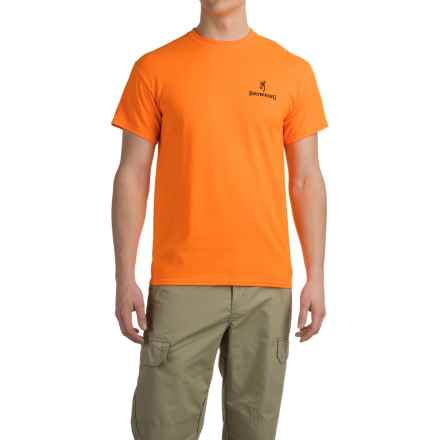 Browning Bullet Holes Buckmark T-Shirt - Short Sleeve (For Men) in Safety Orange - Closeouts