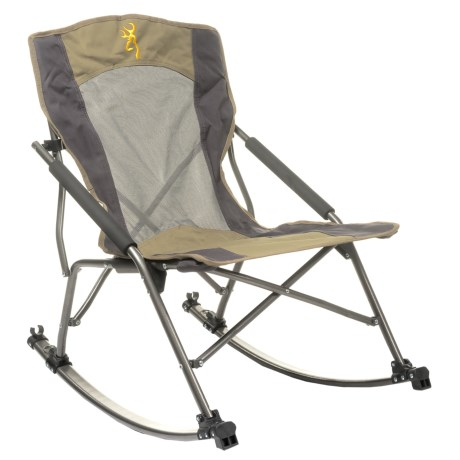 Browning Cabin Rocking Chair in Khaki/Coal