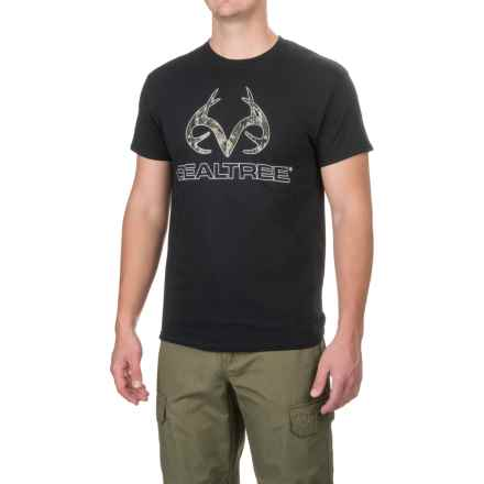 Browning Camo Corporate Logo T-Shirt - Short Sleeve (For Men) in Black Realtree Xtra Green - Closeouts