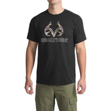 Browning Camo Corporate Logo T-Shirt - Short Sleeve (For Men) in Black Realtree Xtra - Closeouts