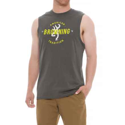 Browning Clark T-Shirt - Sleeveless (For Men) in Castlerock - Closeouts