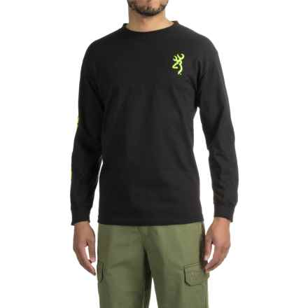Browning Classic Logo Sleeve T-Shirt - Long Sleeve (For Men) in Black - Closeouts