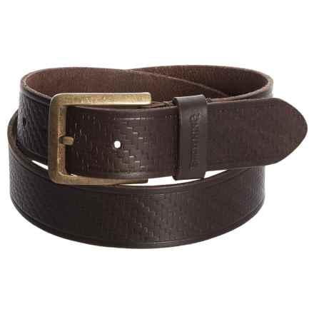 Browning Clifton Belt - Leather (For Men) in Bracken - Closeouts