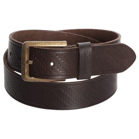 Browning Clifton Belt - Leather (For Men) in Bracken