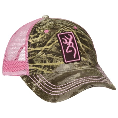 Browning Conway Trucker Hat (For Men and Women) in Realtree Max 1/Pink