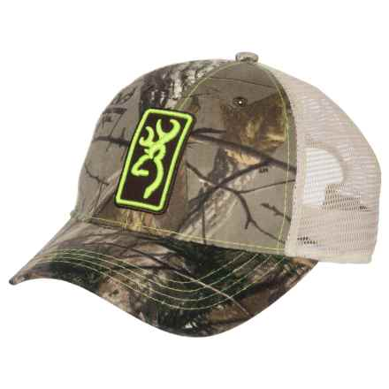 Browning Conway Trucker Hat (For Men and Women) in Realtree Xtra/Lime Green - Closeouts