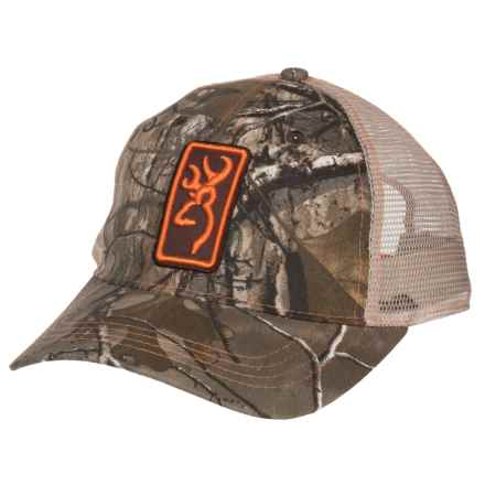 Browning Conway Trucker Hat (For Men and Women) in Realtree Xtra/Orange - Closeouts
