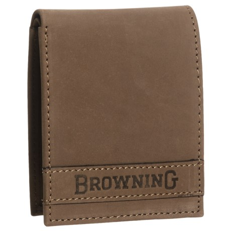 Browning Cowboy Burnished Leather Wallet (For Men) in Burnished Brown