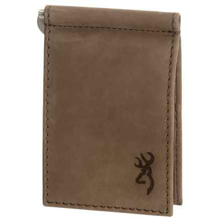 Browning Cowboy Passport Wallet - Leather (For Men) in Burnished Brown - Closeouts