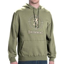 Browning Crosshair Hooded Sweatshirt (For Men) in Loden - Closeouts