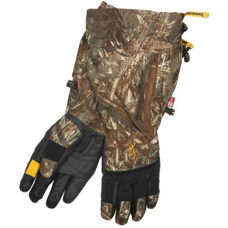 Browning Dirty Bird Decoy Gloves - Waterproof, Insulated (For Men) in Mossy Oak Duck Blind