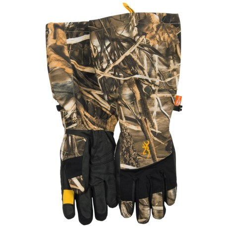 Browning Dirty Bird Decoy Gloves - Waterproof, Insulated (For Men) in Realtree Max 4