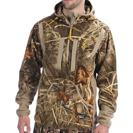 Browning Dirty Bird Fleece Pullover - Zip Neck (For Big Men) in Realtree Max-4