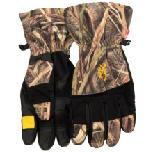 Browning Dirty Bird Gunners Gloves - Waterproof (For Men) in Mossy Oak Shadow Grass Blades - Closeouts