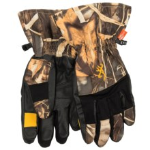 Browning Dirty Bird Gunners Gloves - Waterproof (For Men) in Realtree Max 4 - Closeouts
