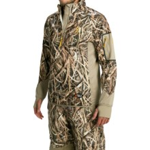 Browning Dirty Bird Smoothbore Fleece Pullover Jacket - Zip Neck (For Men) in Mossy Oak Shadow Grass Blades - Closeouts