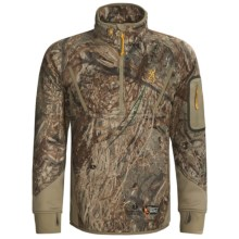 Browning Dirty Bird Smoothbore Fleece Pullover - Zip Neck (For Big Men) in Mossy Oak Duck Blind - Closeouts
