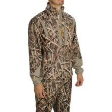 Browning Dirty Bird Soft Shell Pullover Jacket - Zip Neck (For Men) in Mossy Oak Shadow Grass Blades - Closeouts