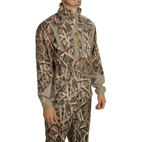 Browning Dirty Bird Soft Shell Pullover Jacket Zip Neck (For Men)