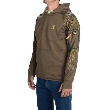 Browning Dirty Bird Timber Fleece Hoodie (For Men) in Mossy Oak Bottomlands - Closeouts