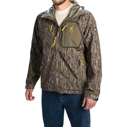 Browning Dirty Bird Timber Rain Jacket - Waterproof (For Men) in Mossy Oak Bottomlands - Closeouts