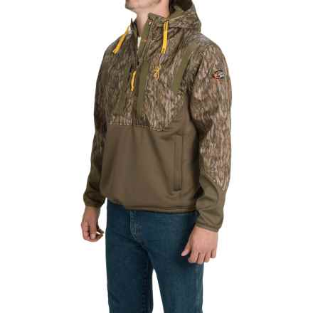 Browning Dirty Bird Timber Soft Shell Hoodie - Zip Neck (For Men) in Mossy Oak Bottomlands - Closeouts