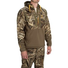 Browning Dirty Bird Timber Soft Shell Hoodie - Zip Neck (For Men) in Realtree Max 5 - Closeouts