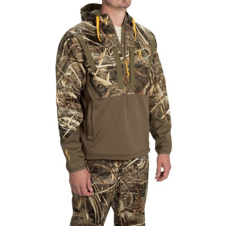 Browning Dirty Bird Timber Soft Shell Hoodie Zip Neck (For Men)