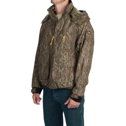 Browning Dirty Bird Timber Wader Jacket - Waterproof (For Men) in Mossy Oak Bottomlands - Closeouts